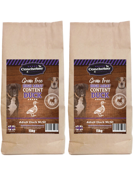 Conchobar Adult Duck 50/50 30kg (2x15kg) - Conchobar, Adult Dog - Hypoallergic grain free dog food