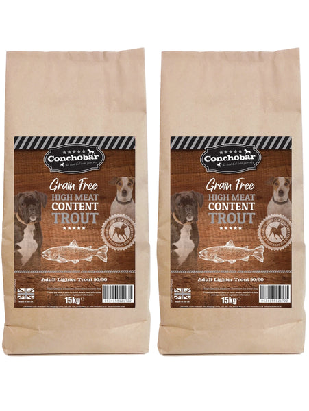 Conchobar Adult Lighter Trout 50/50 30kg (2x15kg) - Conchobar, Adult Dog - Hypoallergic grain free dog food