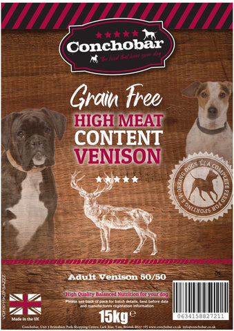 Conchobar Adult Venison 50/50 30kg (2x15kg) - Conchobar, Adult Dog - Hypoallergic grain free dog food