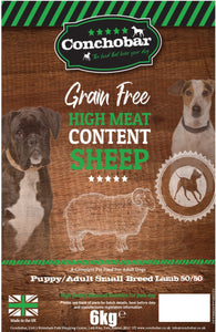 Conchobar Small Breed Puppy / Adult Lamb 50/50 6kg - Conchobar, Small Breed - Hypoallergic grain free dog food