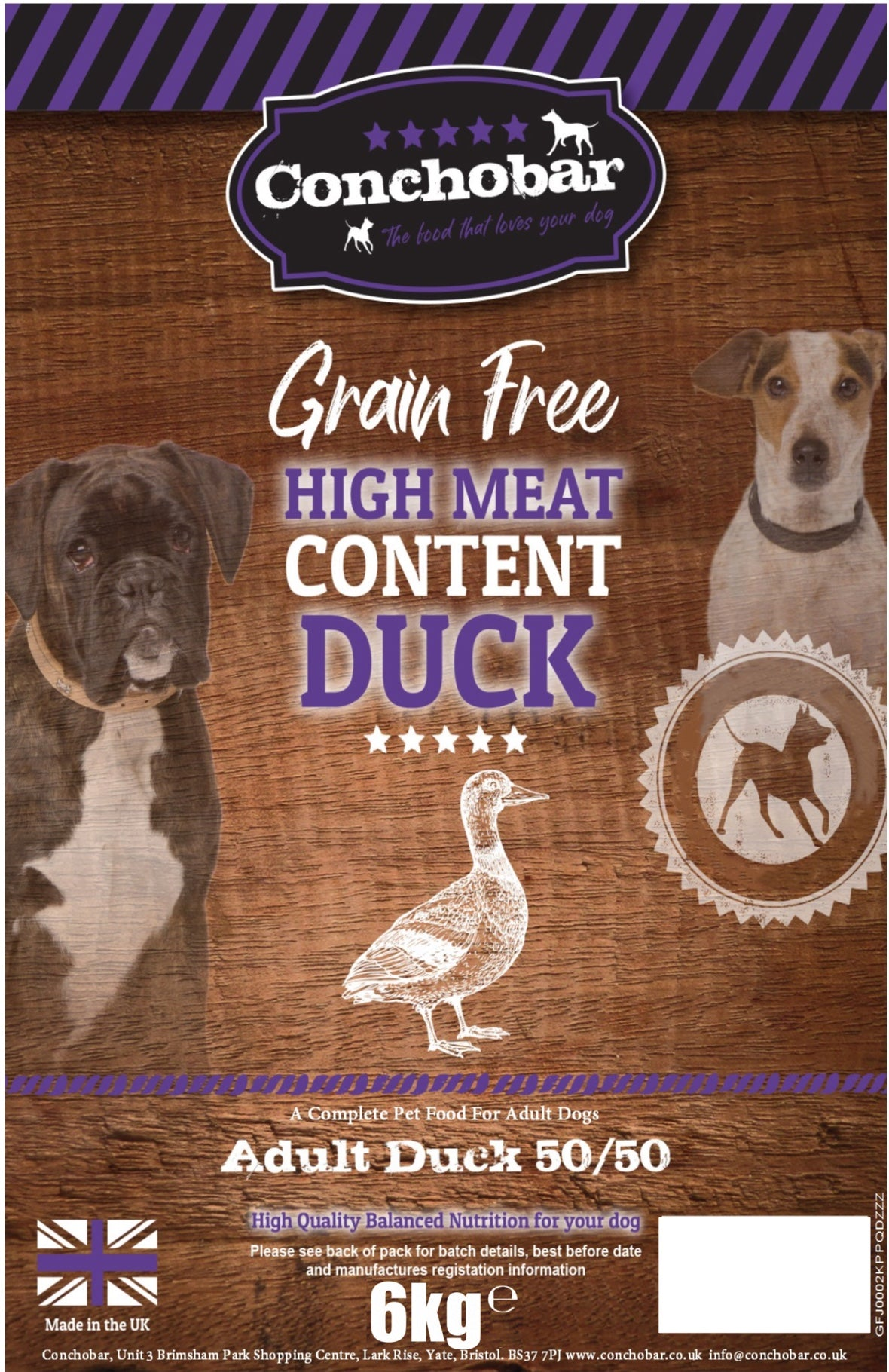 Conchobar Adult Duck 50/50 6kg - Conchobar, Adult Dog - Hypoallergic grain free dog food