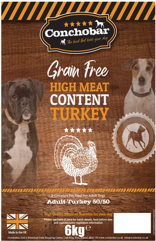 Conchobar Adult Turkey 50/50 6kg - Conchobar, Adult Dog - Hypoallergic grain free dog food