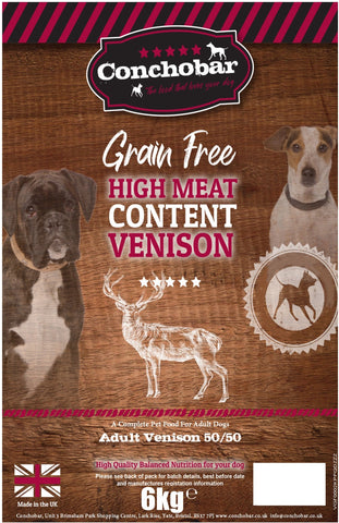 Conchobar Adult Venison 50/50 6kg - Conchobar, Adult Dog - Hypoallergic grain free dog food