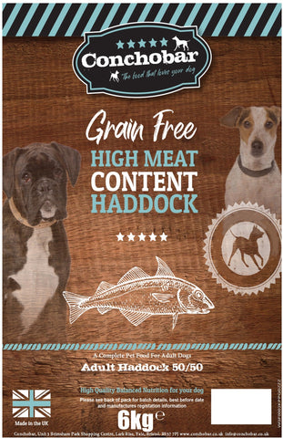 Conchobar Adult Haddock 50/50 6kg - Conchobar, Adult Dog - Hypoallergic grain free dog food