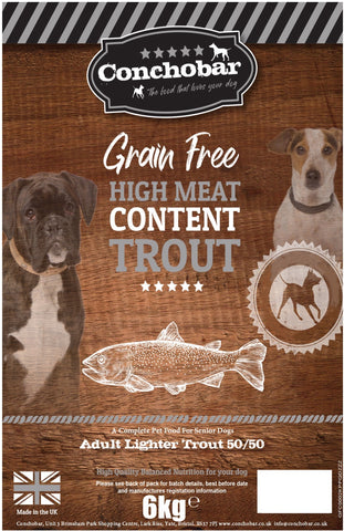 Conchobar Adult Lighter Trout 50/50 6kg - Conchobar, Adult Dog - Hypoallergic grain free dog food