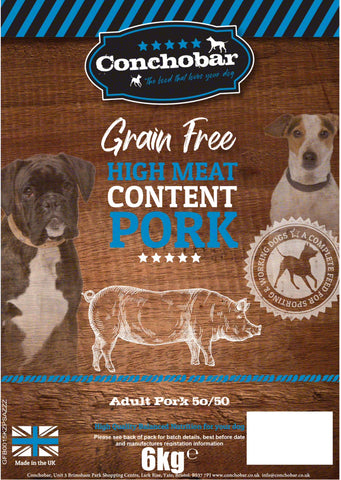 Conchobar Adult Pork 50/50 6kg - Conchobar, Adult Dog - Hypoallergic grain free dog food