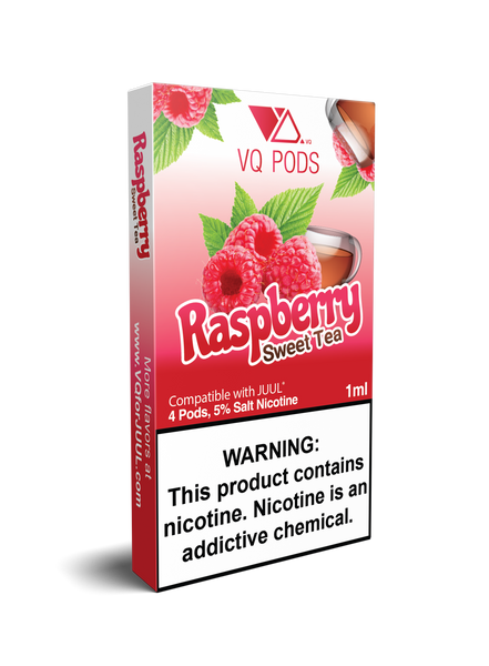 VQ Pods Compatible with JUUL - Raspberry Sweet Tea