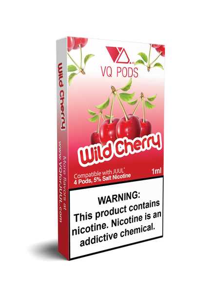 VQ Pods Compatible with JUUL - Wild Cherry - VQ Compatible Pods