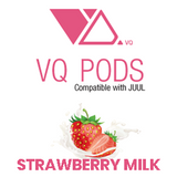 VQ Pods Compatible with JUUL - Strawberry Milk