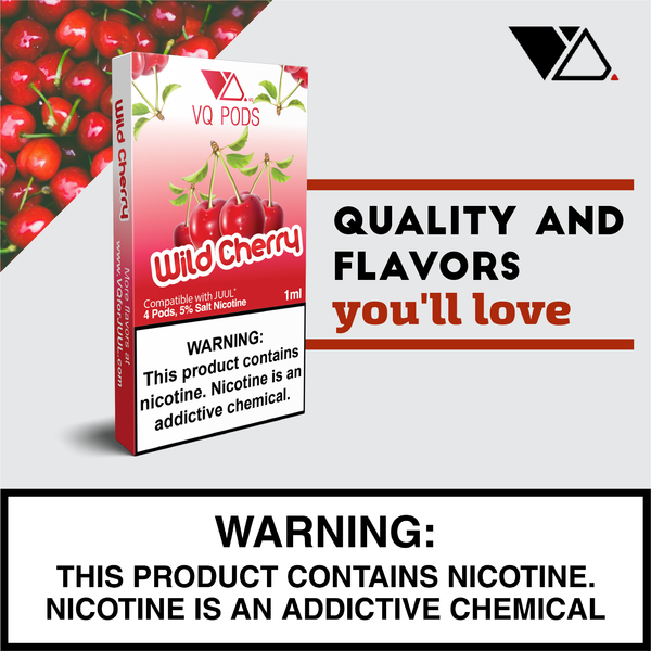 VQ Pods Compatible with JUUL - Wild Cherry