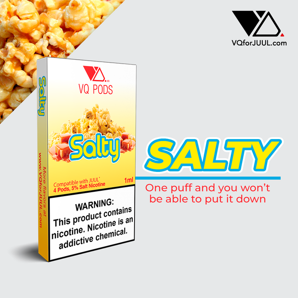 VQ Pods Compatible with JUUL - Salty - VQ Compatible Pods
