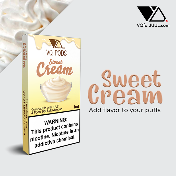 VQ Pods Compatible with JUUL - Sweet Cream