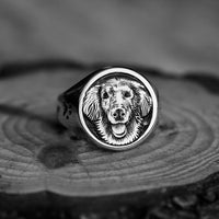 DOG FACE ROUND CUSTOM SIGNET
