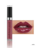 Vasanti Power Oils Lip Gloss - Shade Hero lip swatch and product front shot