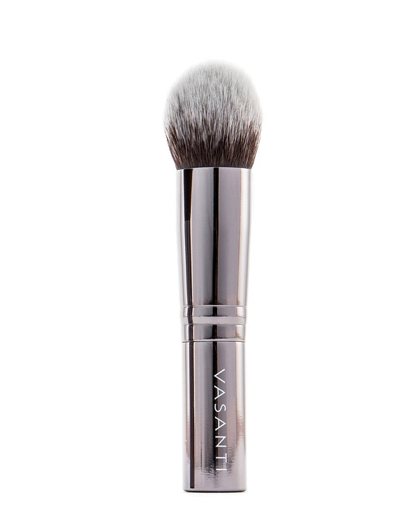 Vasanti Stubby Round Foundation Brush - Full size front shot