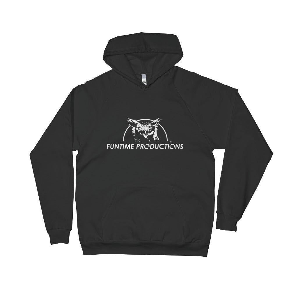 White Owl Logo - Black Fleece Hoodie