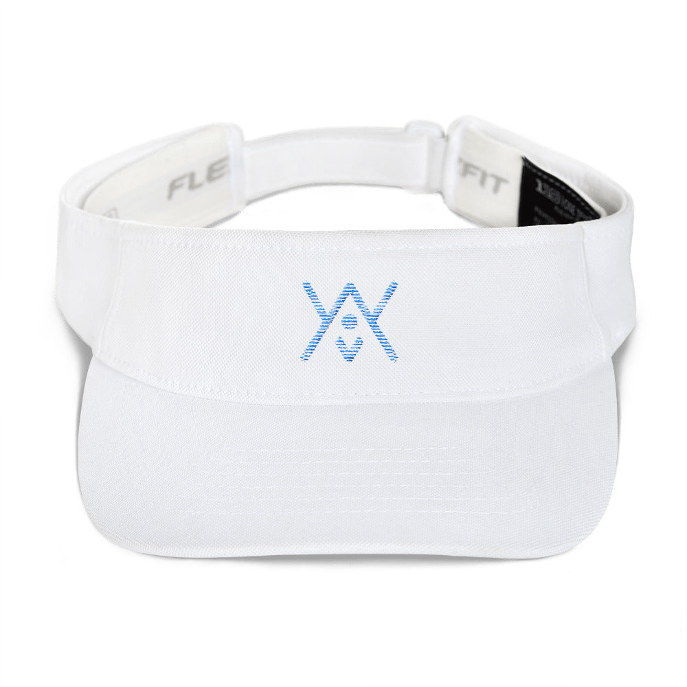 YAY Embroidered Logo - White FLEX-FIT Summer Visor