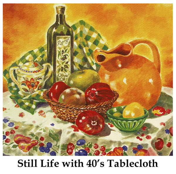 Still Life with 40's Tablecloth