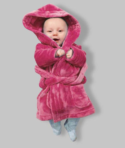 Cerise Pink Childrens personalised Robe- Discontinued colour