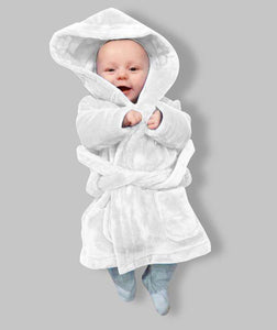 Childrens white Fluffy Robe
