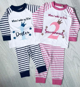 Childrens Birthday Eve pyjamas - Robes 4 You