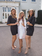 Load image into Gallery viewer, Black bridesmaid dressing gowns -Robes4you