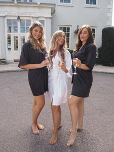 Black bridesmaid dressing gowns -Robes4you