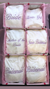 Luxury White Bridal Robes Embroidered - Robes 4 You