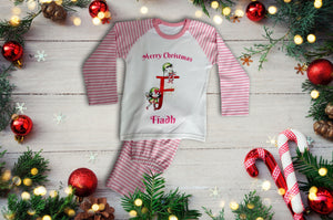 Children's pink personalised christmas pyjamas- Robes4you