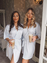 Load image into Gallery viewer, Grey Bridesmaid satin robes -Robes4you