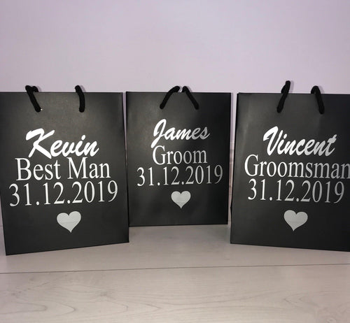 Personalised Groomsmen Gift Bags - Robes 4 You