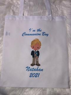 Personalised Communion Bag For boys