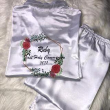 Load image into Gallery viewer, Personalised Communion Pyjamas with wreath