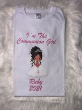 Load image into Gallery viewer, First Holy Communion Personalised T-Shirt Girls