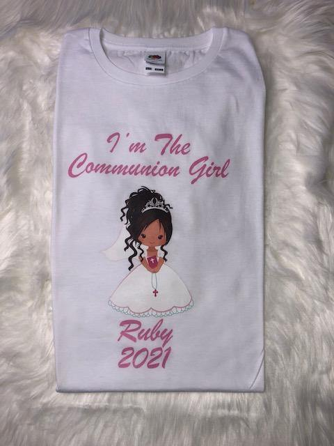 First Holy Communion Personalised T-Shirt Girls