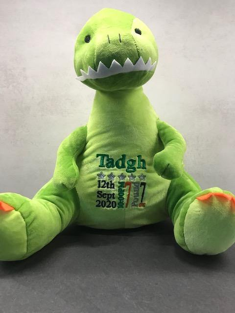 Personalised Birth Dinosaur with gift bag