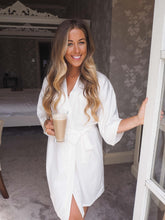 Load image into Gallery viewer, Ivory satin personalised robes -Robes4you