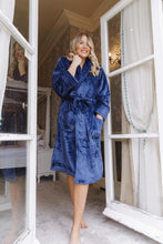 Load image into Gallery viewer, Fluffy navy personalised robes -Robes4you