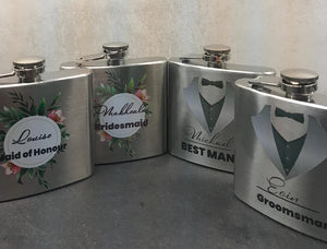 Hip Flask for Bridal Parties
