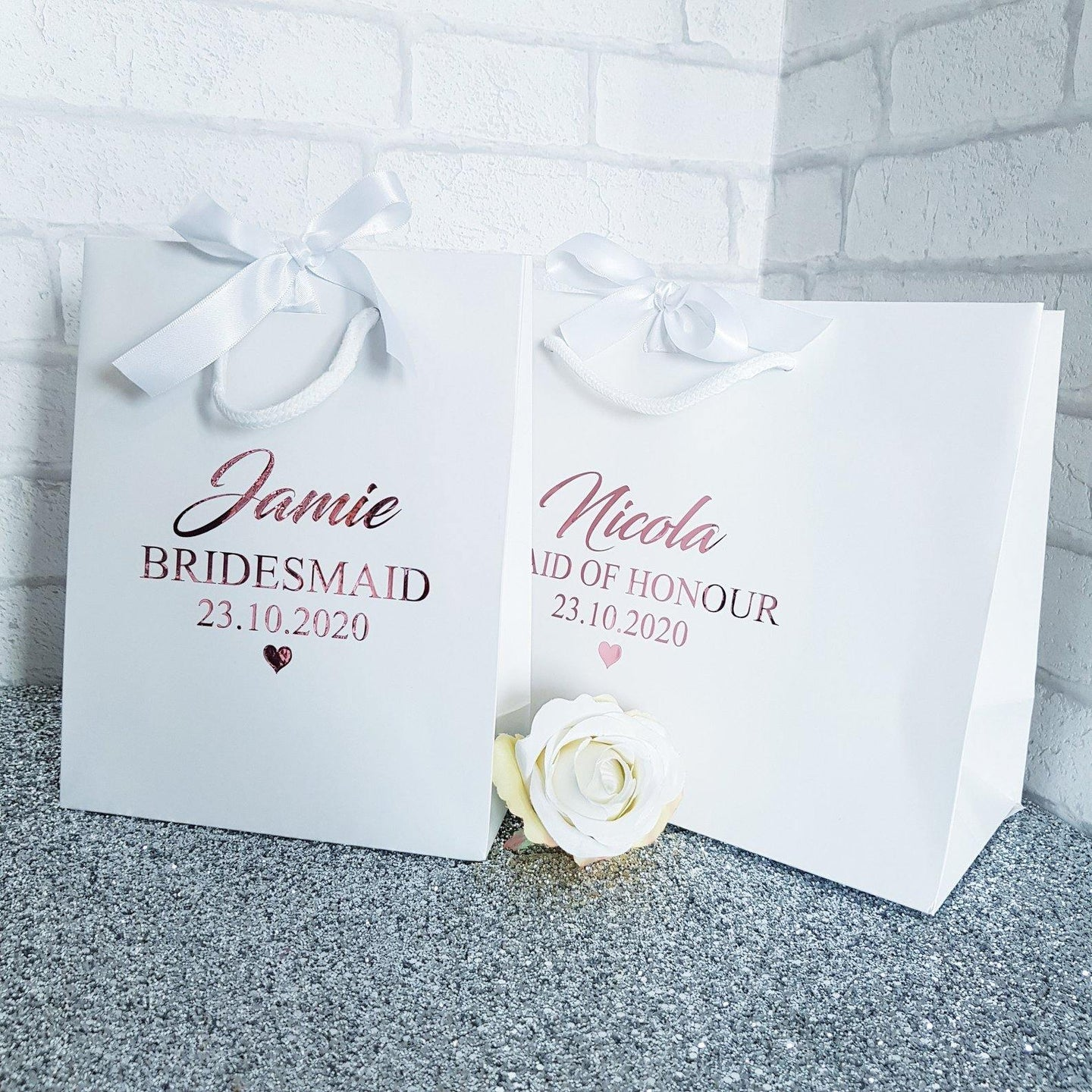 Personalised Bridal gift bags - Robes 4 You