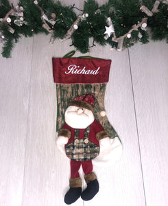 Personalised Santa Stocking - Robes 4 You