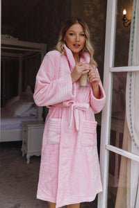 Fluffy baby pink robes -Robes4you