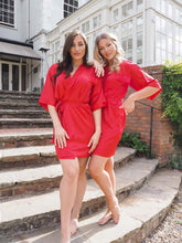 Load image into Gallery viewer, Red silk robe - Robes4you