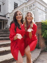 Load image into Gallery viewer, Personalised red silk robes -Robes4you