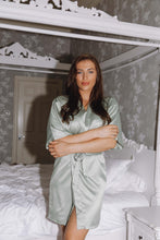 Load image into Gallery viewer, Sage green personalised robe - Robes4you