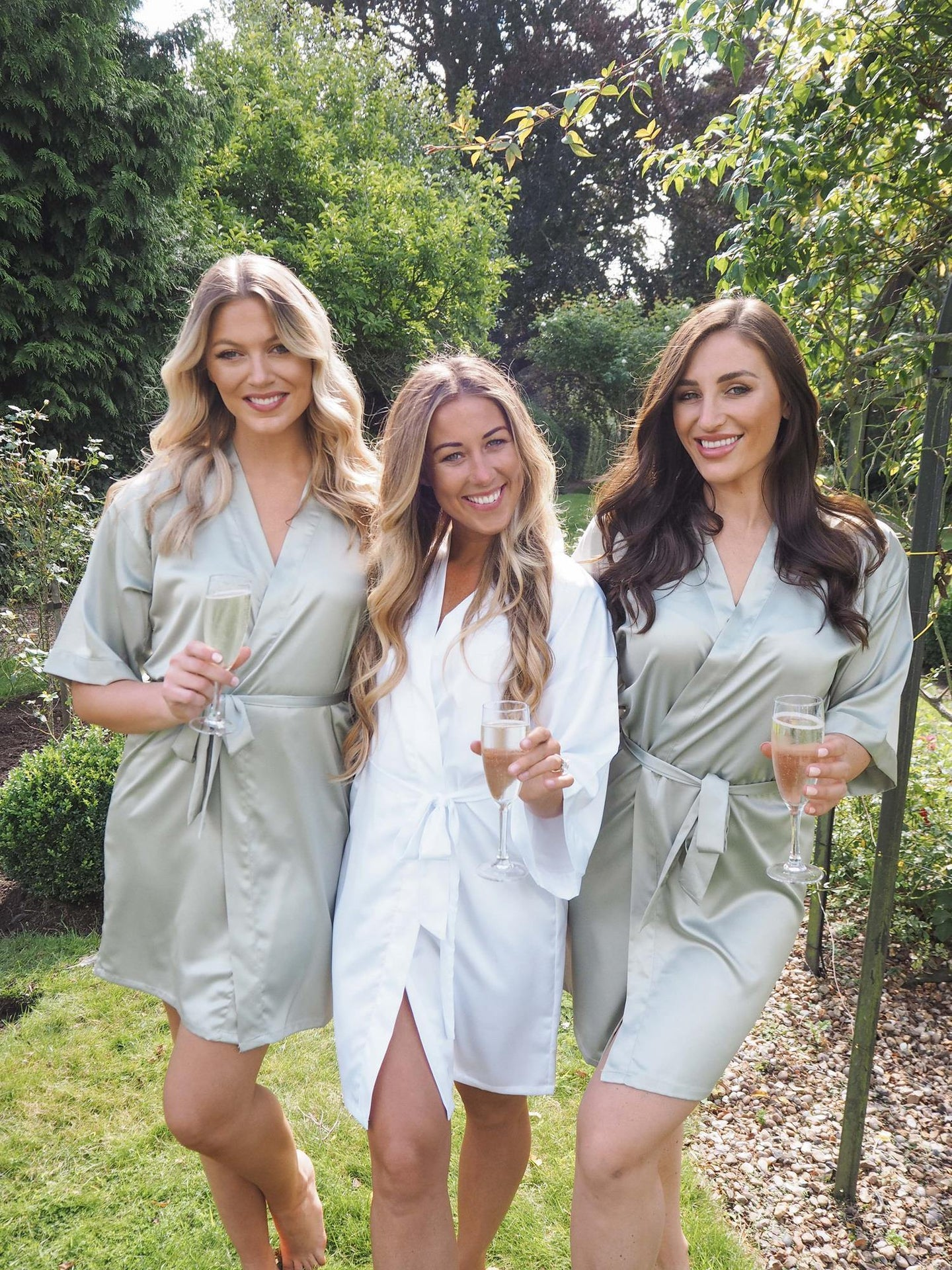 Sage green bridesmaid robes -Robes4you