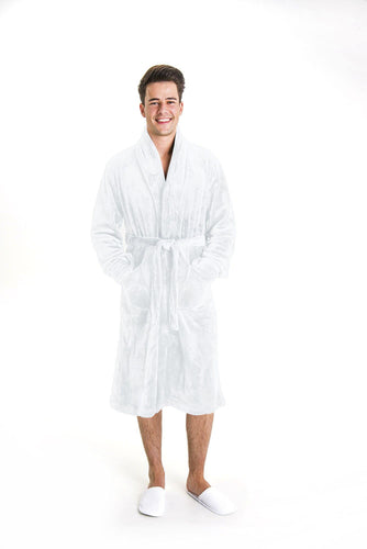 Luxurious Fluffy white Mens Robe - Robes 4 You