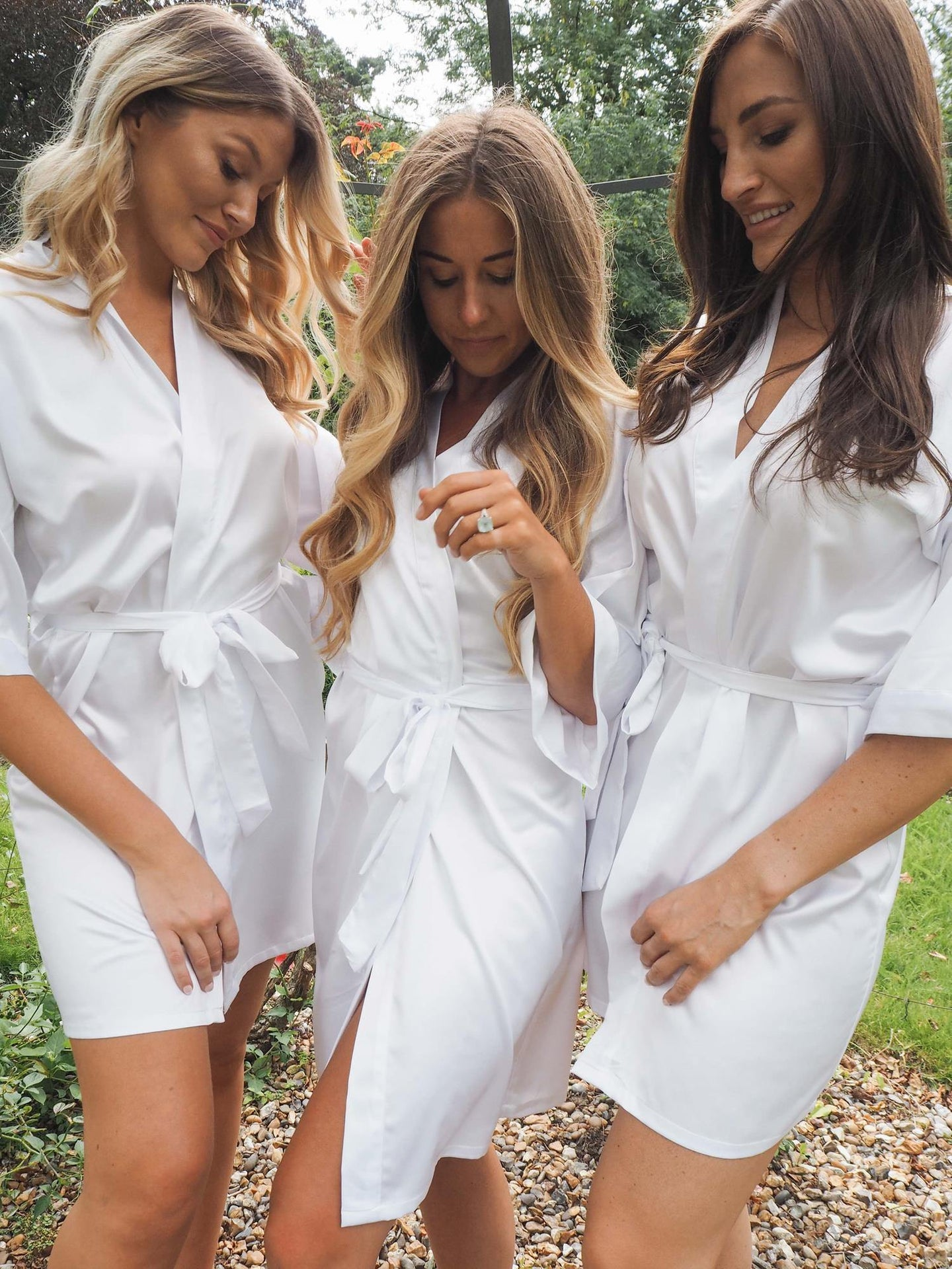 White silk bridal robes -Robes4you