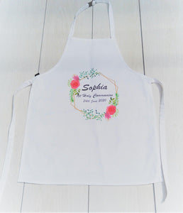 Communion Apron with flower Wreath
