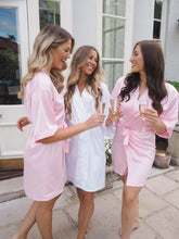 Load image into Gallery viewer, Baby pink silk bridesmaid robes -Robes4you